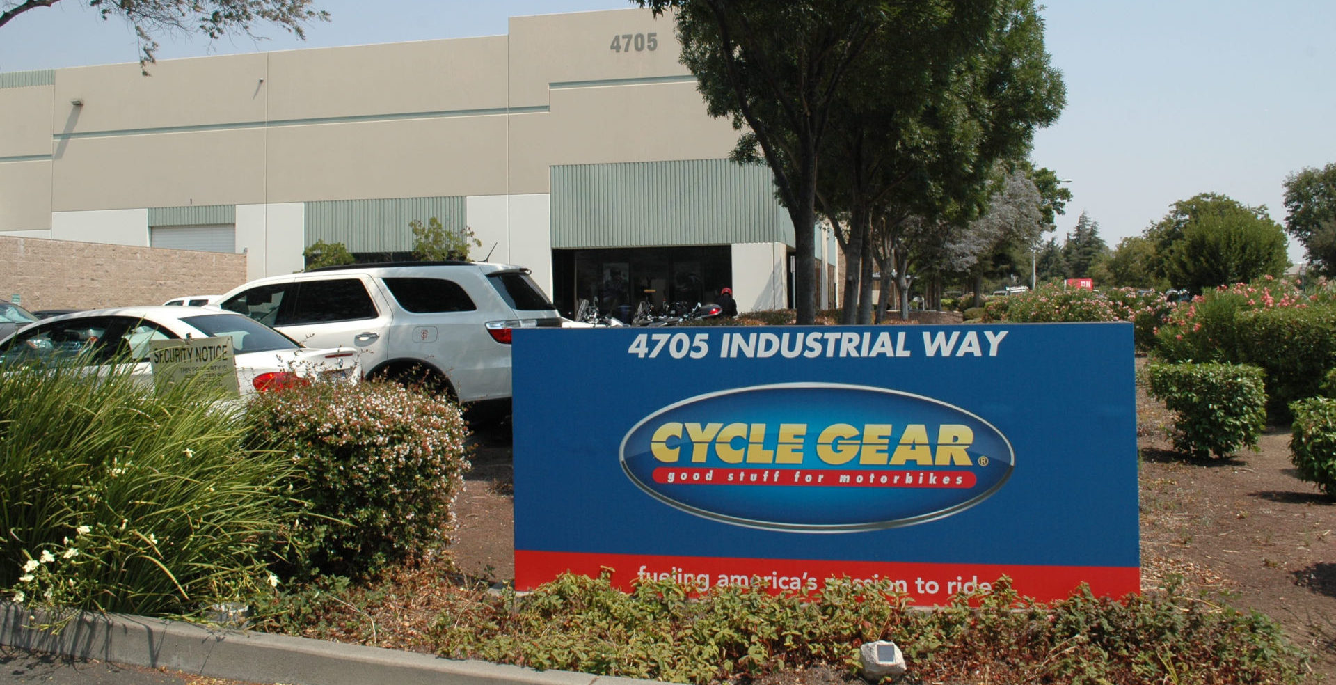 Cycle Gear headquarters in Benicia, California. Photo by David Swarts.