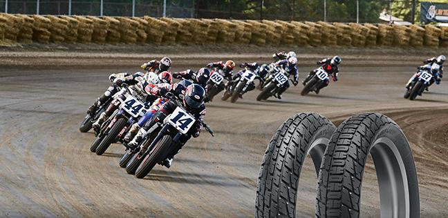 Dunlop's all-new DT4 dirt track racing tires. Image courtesy of Dunlop.