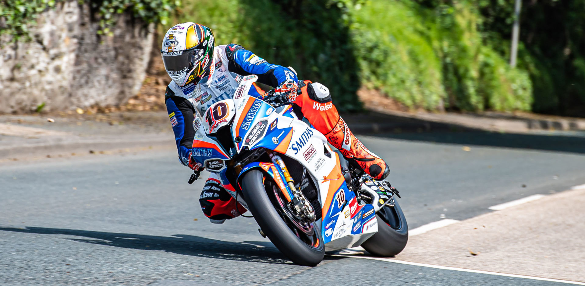 Peter Hickman (10) in action at the 2019 Isle of Man TT. Photo by Barry Clay.