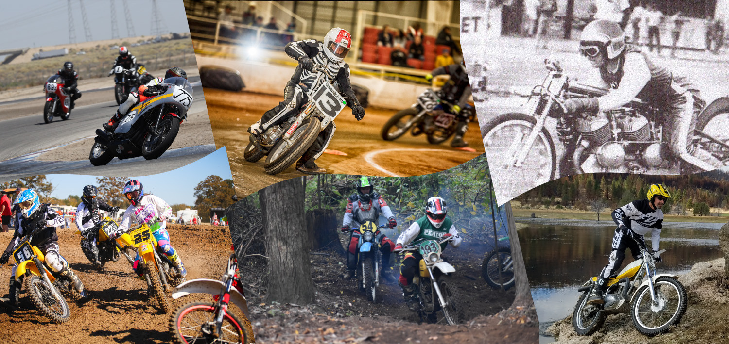 """The """"AHRMA Classic MotoFest® at Heartland Motorsports Park"""" will include road race, dirt track, motocross, cross country, trials, and drag racing events. Images courtesy of AHRMA."""