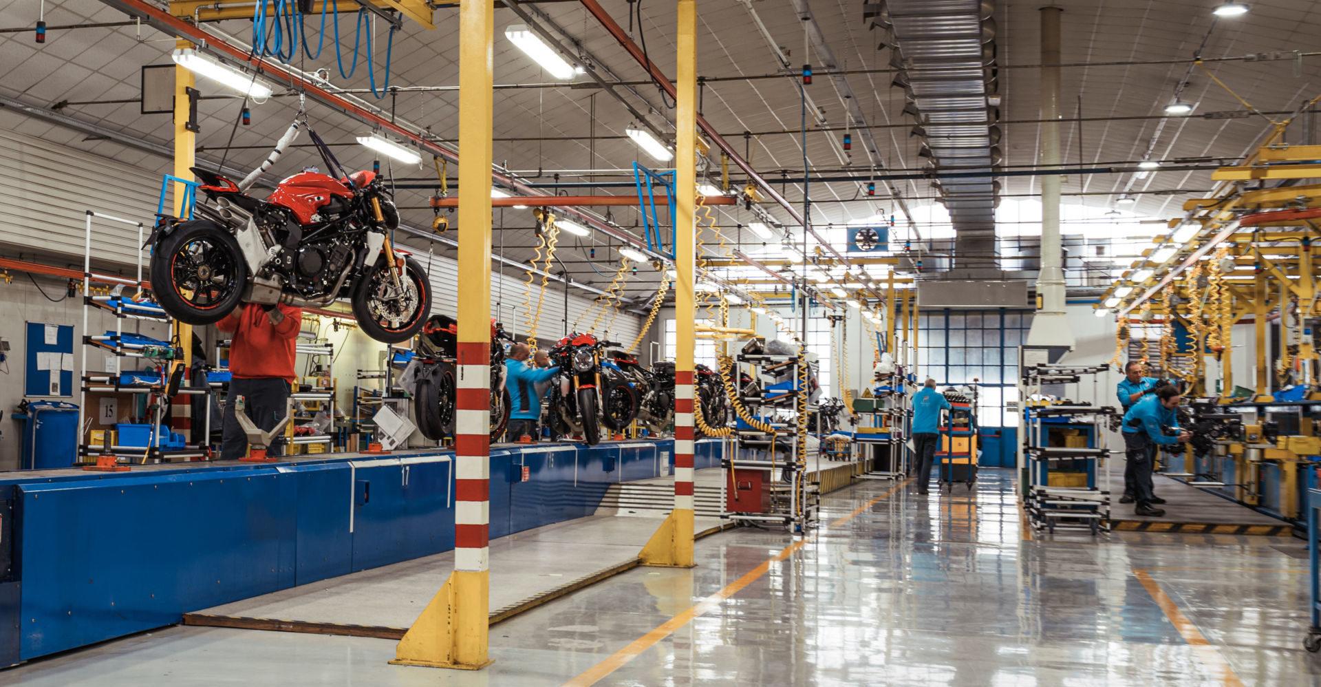 MV Agusta's factory in Varese, Italy. Photo courtesy of MV Agusta.