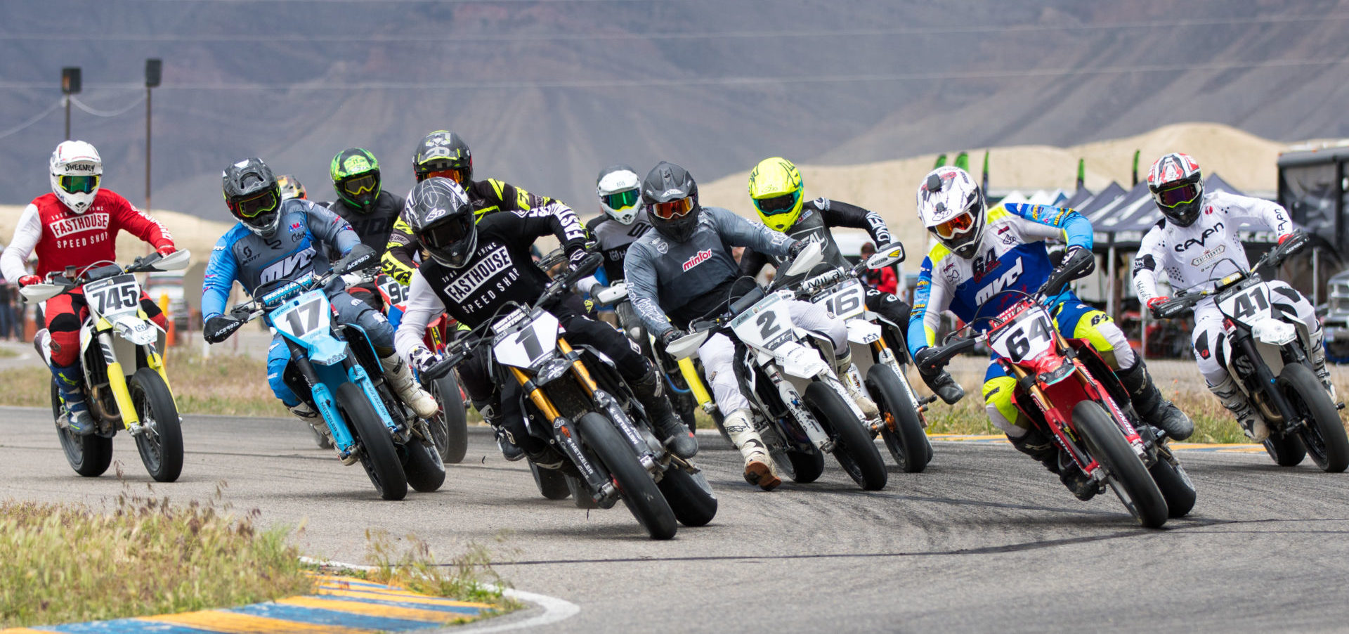 AMA Supermoto action. Photo by Steve Alkyer, courtesy of DRT Racing.