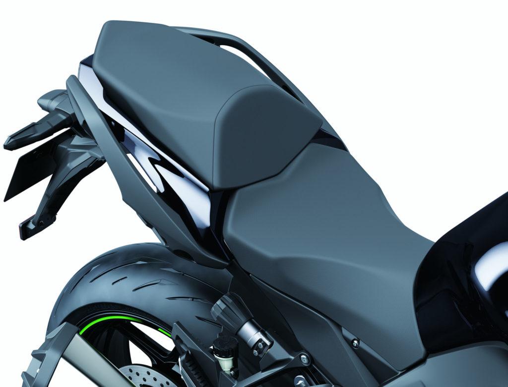 The 2020 Kawasaki Ninja 1000SX comes with new seats for the rider and passenger. Photo courtesy of Kawasaki.