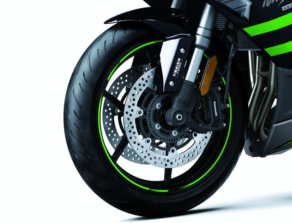 The front end of a 2020 Kawasaki Ninja 1000SX. Photo courtesy of Kawasaki.