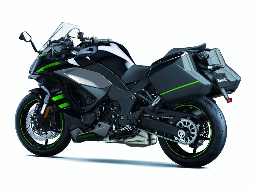 A 2020 Kawasaki Ninja 1000SX fitted with optional hard cases. Photo courtesy of Kawasaki.
