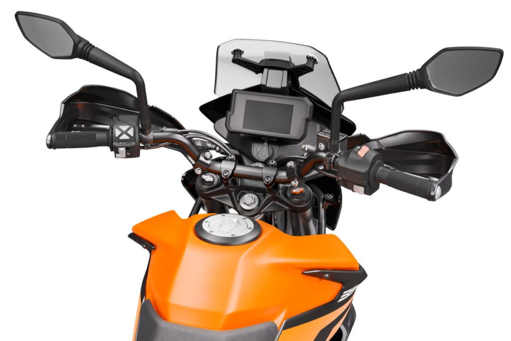 The cockpit of a 2020 KTM 390 Adventure. Photo courtesy of KTM North America.