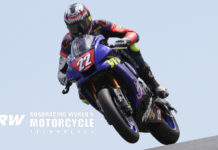Ashton Yates (22) in action on his VFR Yamaha YZF-R1 Stock 1000 racebike at Sonoma Raceway in 2019. Photo by Brian J. Nelson.