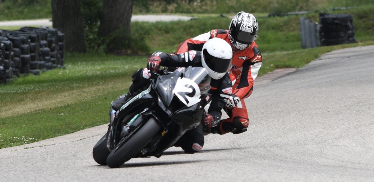 Drew Jankord (2) leads Tom Girard during a CCS race at Blackhawk Farms Raceway in 2019. Photo by Jessica Johnk, courtesy of ASRA/CCS.