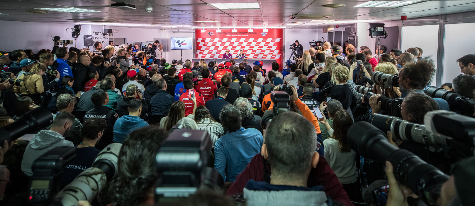 Media may not be allowed to attend MotoGP races when the 2020 season starts later this summer. Photo courtesy of Repsol Honda.