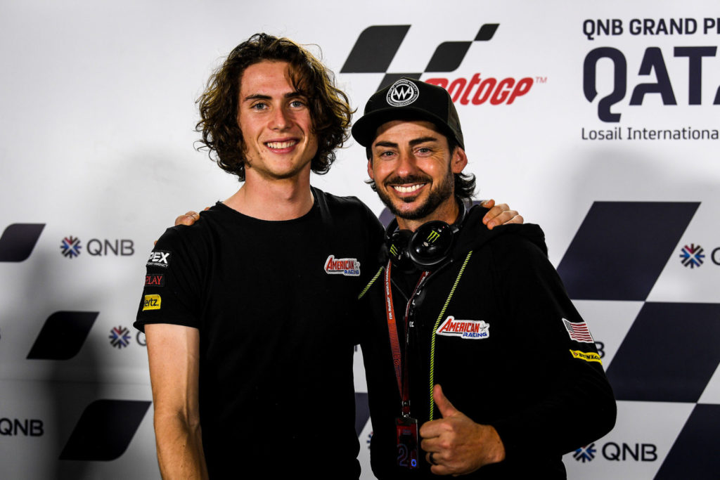 Joe Roberts (left) and John Hopkins (right) in Qatar. Photo courtesy of American Racing Team.