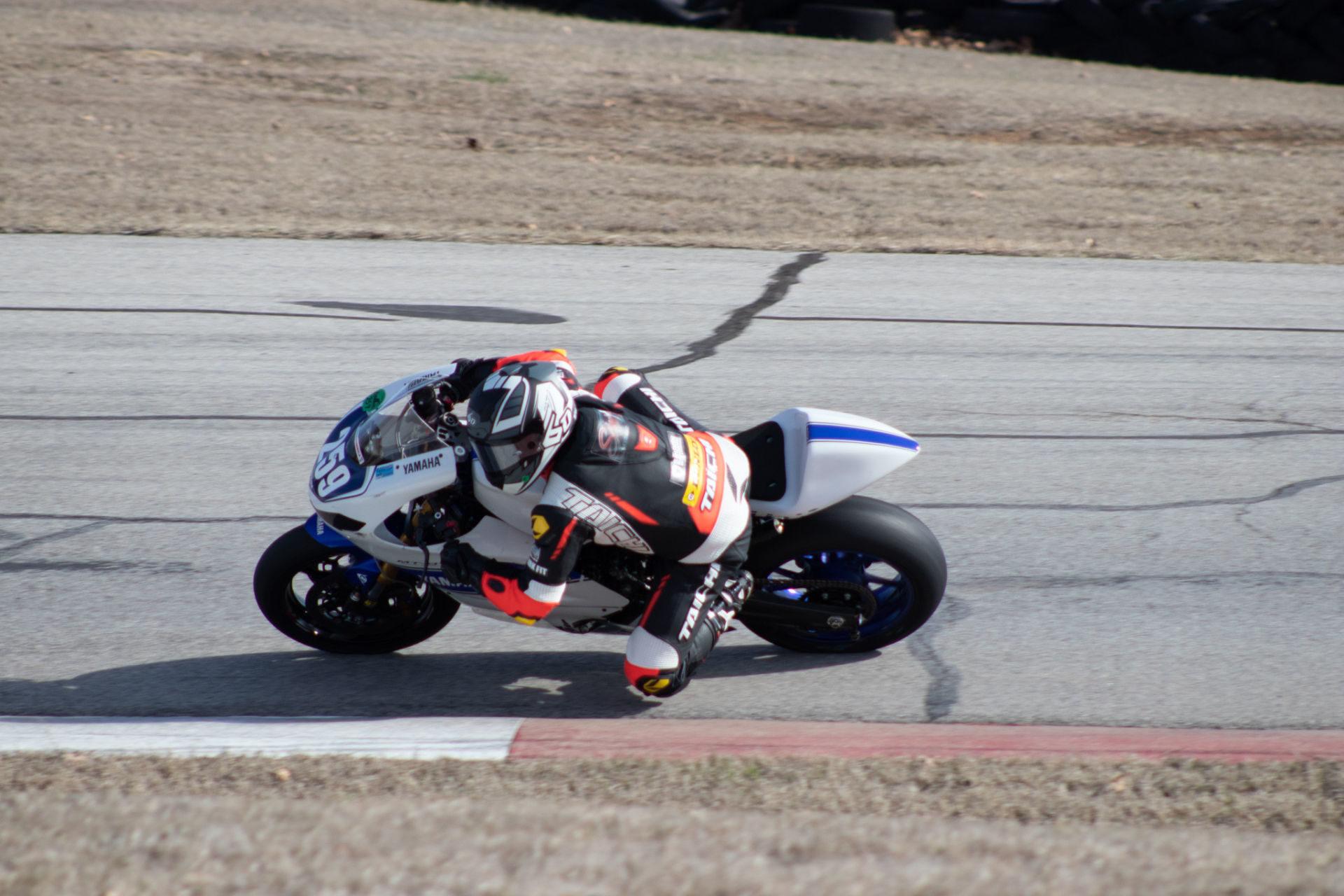 MotoAmerica Twins Cup racer Hayden Schultz (259). Photo courtesy of Hayden Schultz Racing.