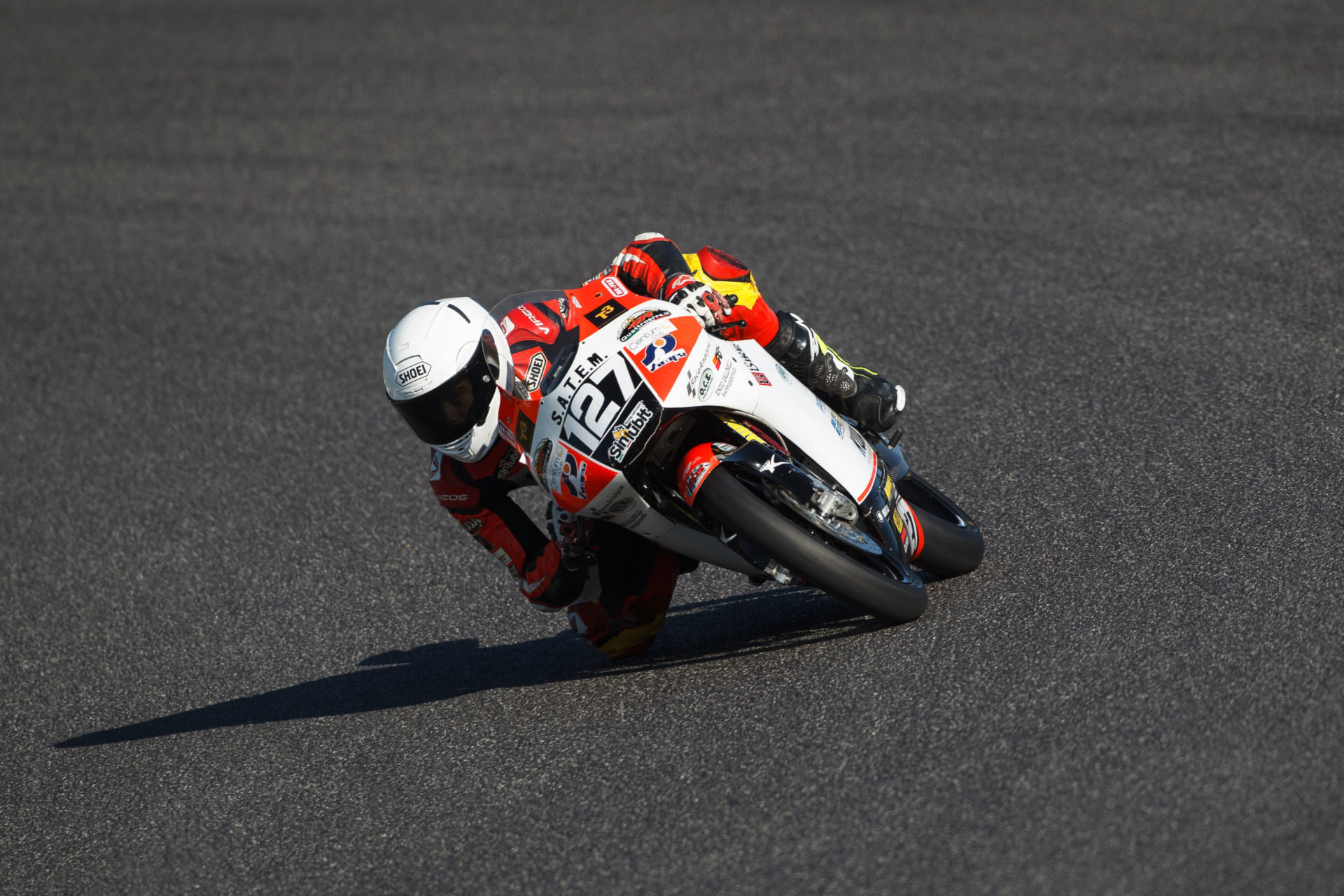 Max Toth (127), as seen during a CIV PreMoto3 event in Italy. Photo courtesy of Max Toth.
