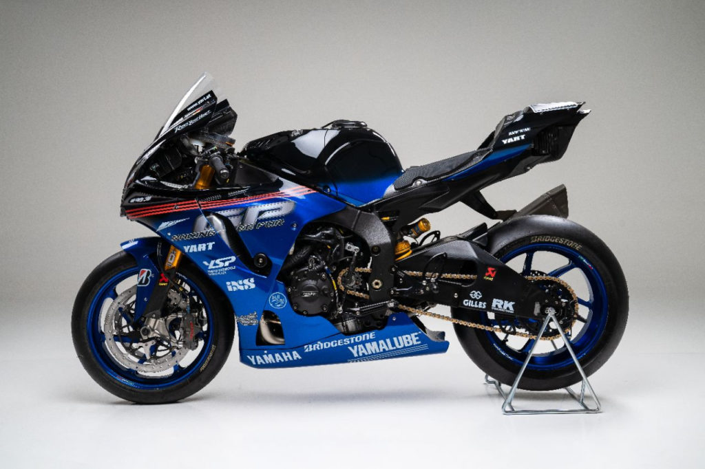 The Yamalube Yamaha EWC Official Team by YART YZF-R1 with its special livery for the Suzuka 8-Hours race. Photo courtesy of Yamaha.