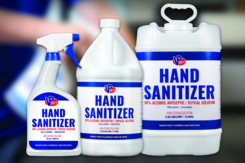 VP Racing Fuels' new hand sanitizer. Photo courtesy of VP Racing Fuels.