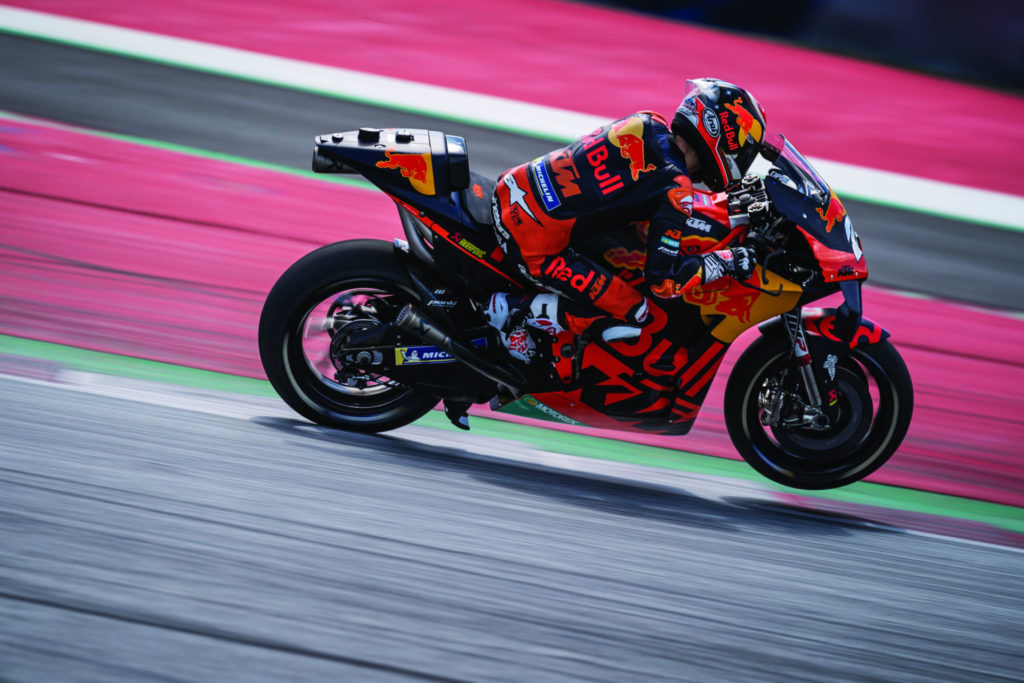 Dani Pedrosa (26) in action at Red Bull Ring. Photo by Philip Platzer, courtesy Red Bull KTM.