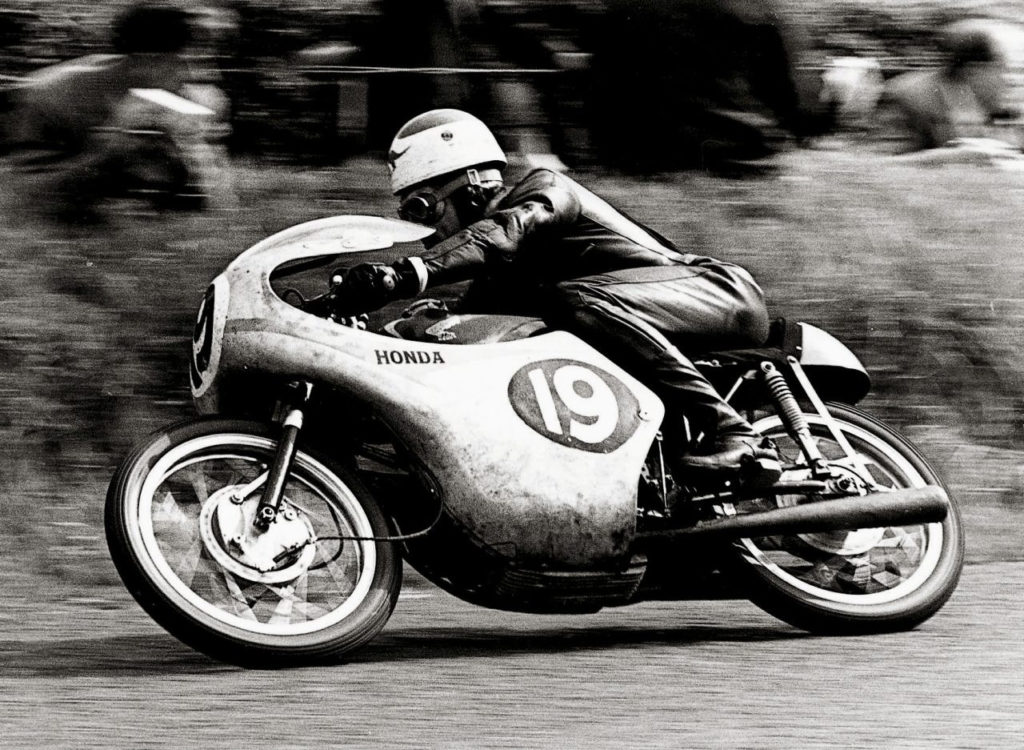 Tom Phillis (19) at speed on his Honda RC143, a DOHC 125cc Twin. Photo courtesy Honda Pro Racing.
