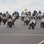 The grid prior to the start of a N2 Racing/WERA National Endurance race at Pittsburgh International Race Complex. Photo courtesy N2 Racing.