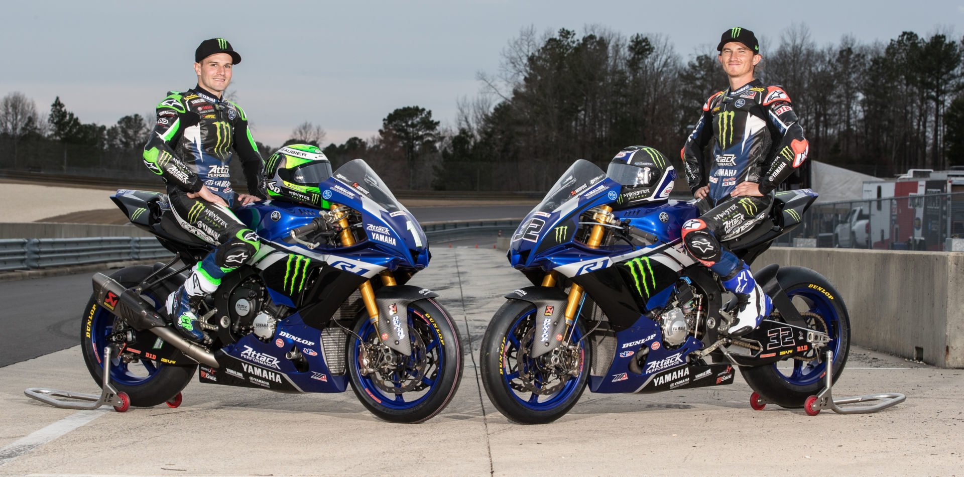 Monster Energy Attack Performance Yamaha's Cameron Beaubier (left) and Jake Gagne (right). Photo courtesy of Yamaha.