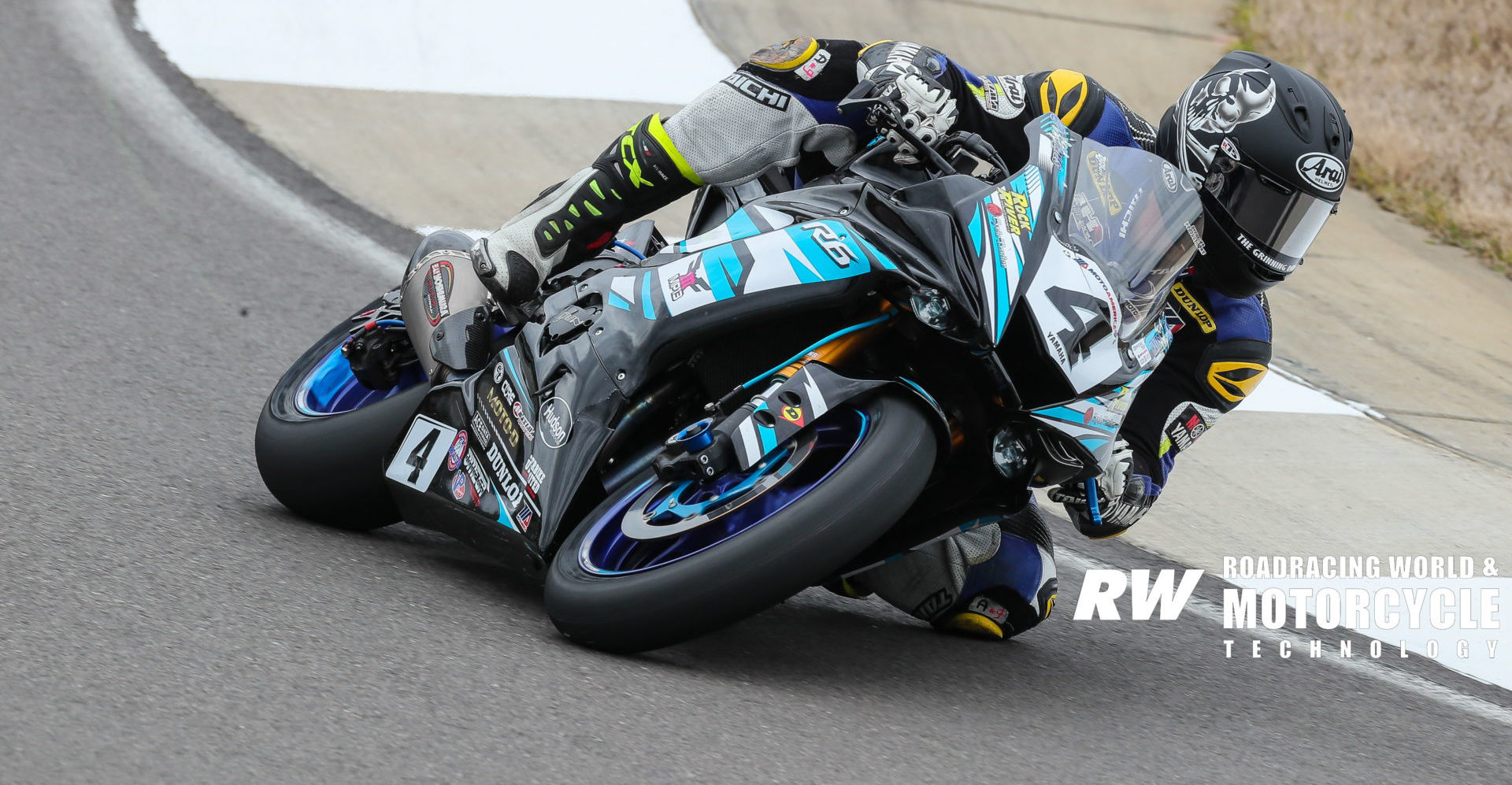 Josh Hayes (4) at the 2020 MotoAmerica pre-season test at Barber Motorsports Park. Photo by Brian J. Nelson.