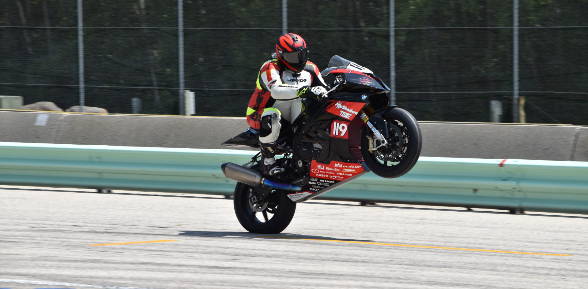 Stefan Dolipski (119) at speed. Photo by H&E Services, courtesy TSE Racing.