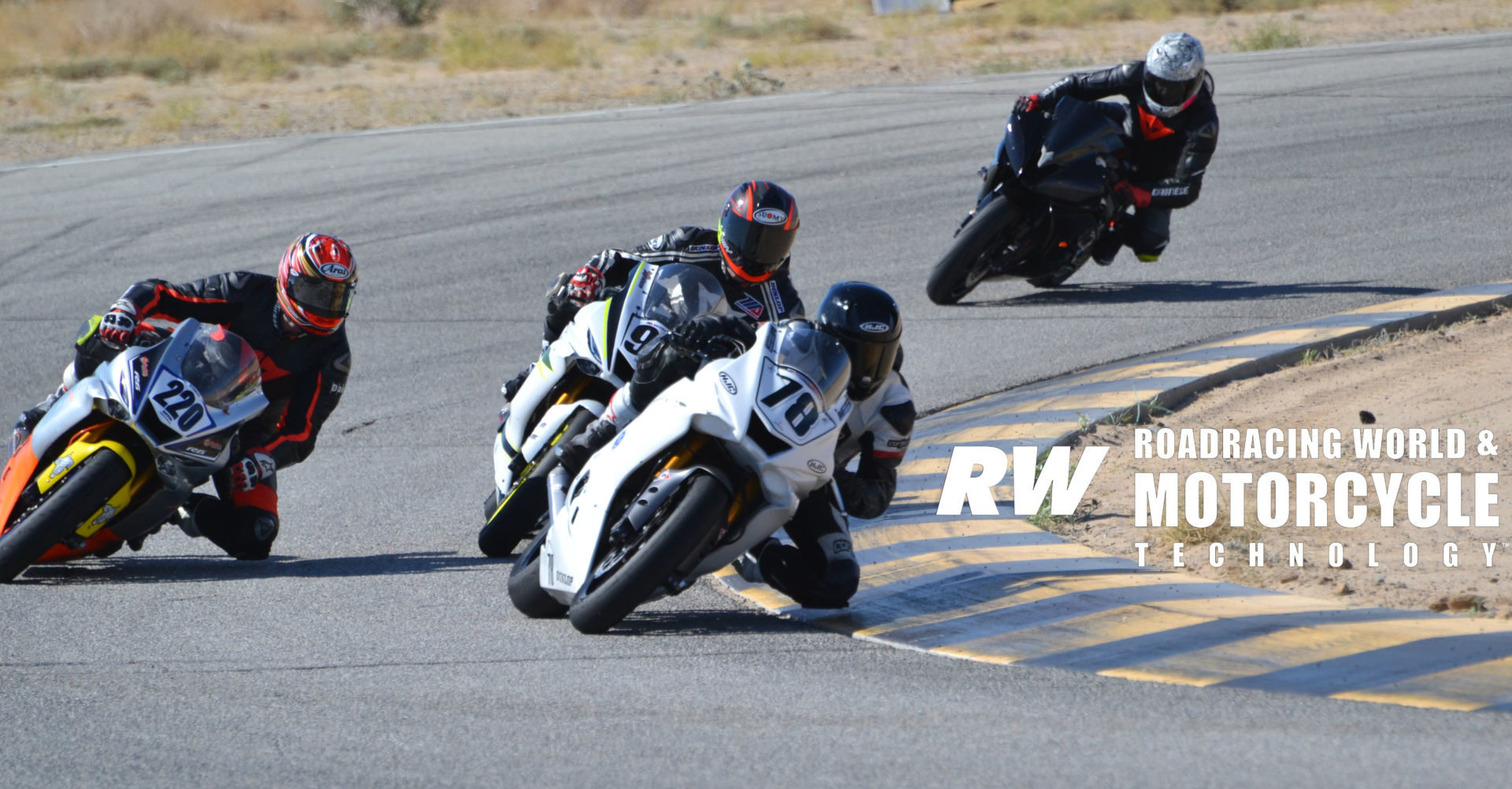 Racers doing laps during a SoCal Track Days event at Chuckwalla Valley Raceway. Photo by David Swarts.