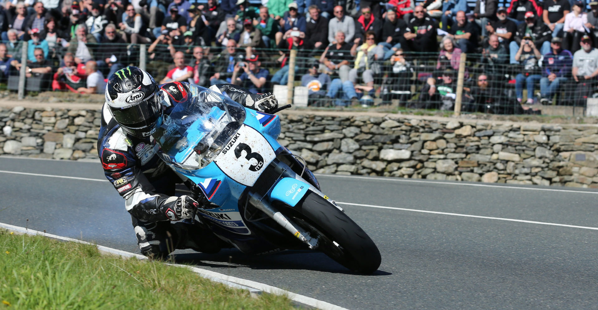 Michael Dunlop (3) in action during the 2016 Classic TT. Photo courtesy of Classic TT Press Office.