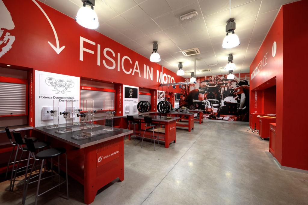 The Fisica in Moto Laboratory. Photo courtesy Ducati.