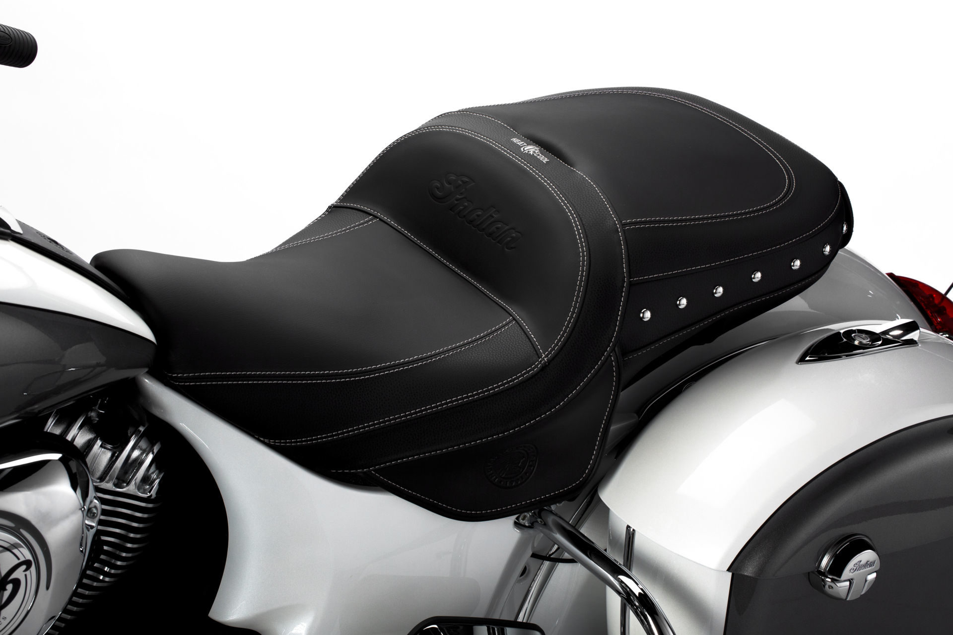 Indian Motorcycle's ClimaCommand Classic Seat with heating and cooling. Photo courtesy Indian Motorcycle.