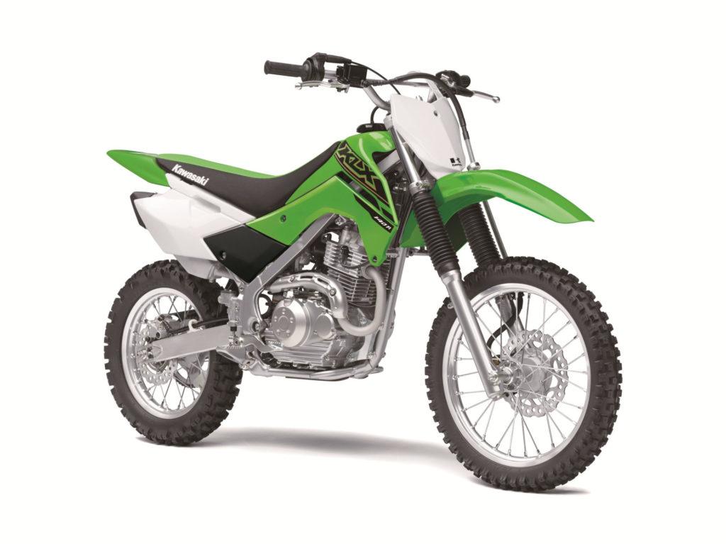 A 2021 Kawasaki KLX140R. Photo courtesy Kawasaki Motors Corp., U.S.A.
