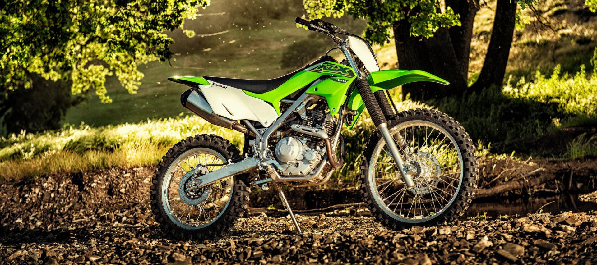 A 2021 Kawasaki KLX230R. Photo courtesy Kawasaki Motors Corp., U.S.A.