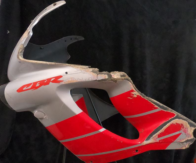 This Nicky Hayden-autographed fairing is being auctioned with all proceeds going to the Nicky Hayden Memorial Foundation. Photo courtesy Robert Zerbisias.