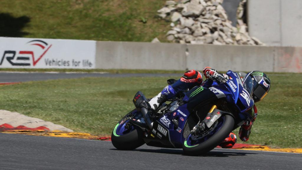 Jake Gagne (32). Photo courtesy Yamaha Racing.