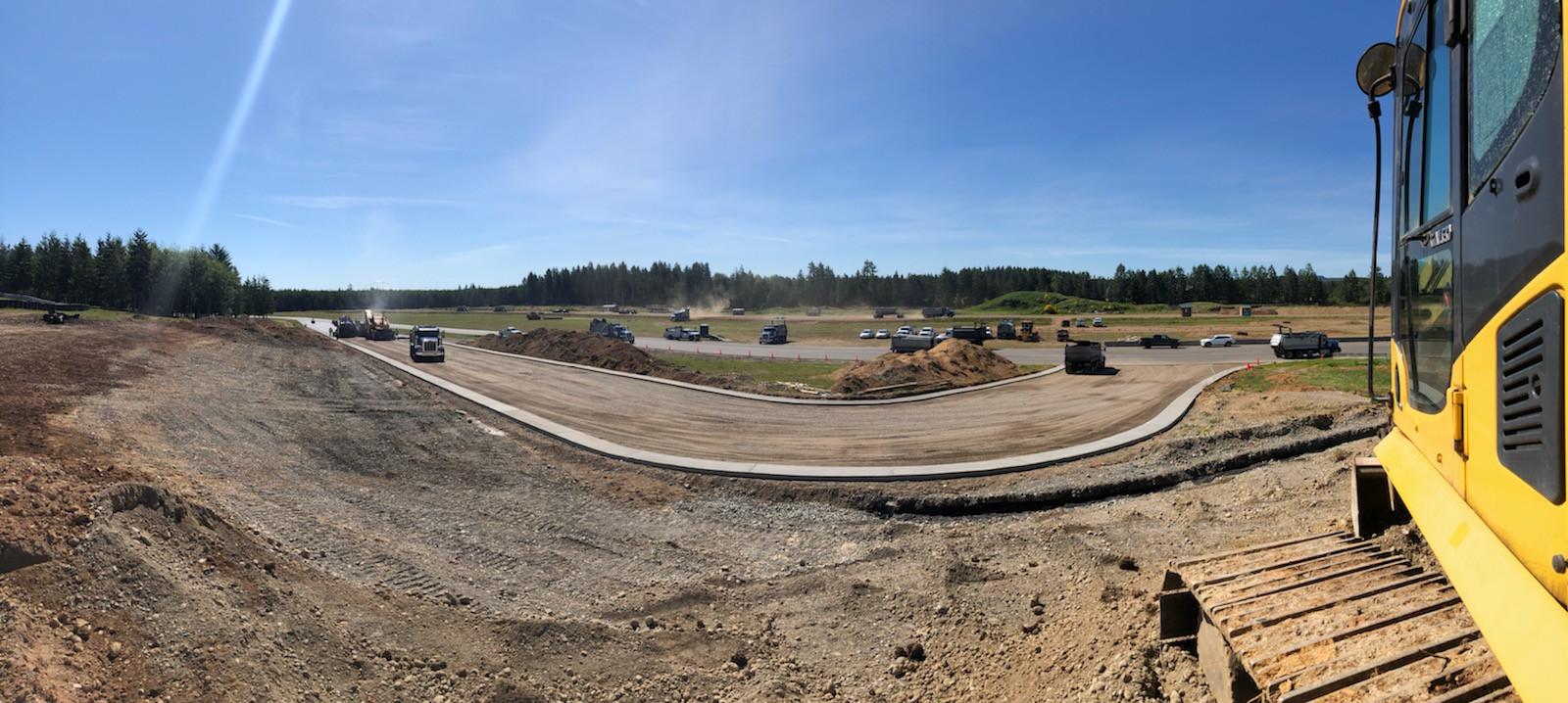 The new chicane at Ridge Motorsports Park under construction. Photo courtesy Ridge Motorsports Park.