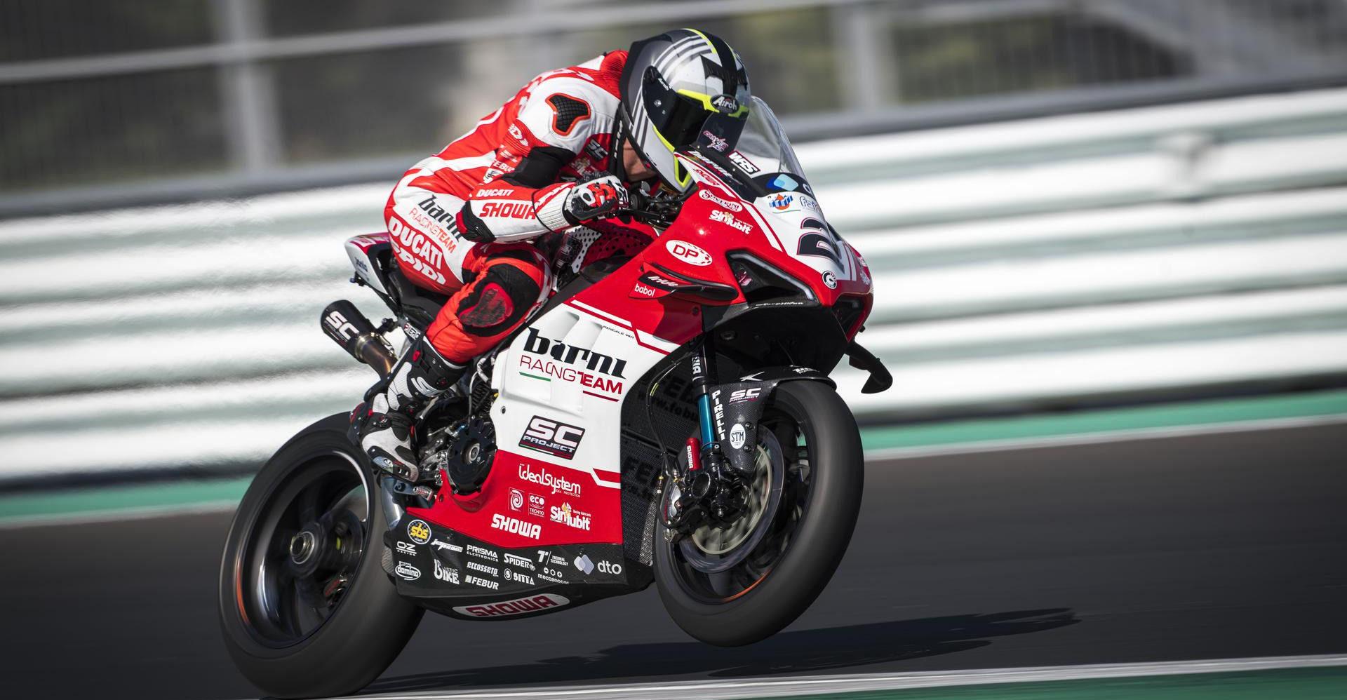 Leon Camier (2) at Misano. Photo courtesy Barni Racing.