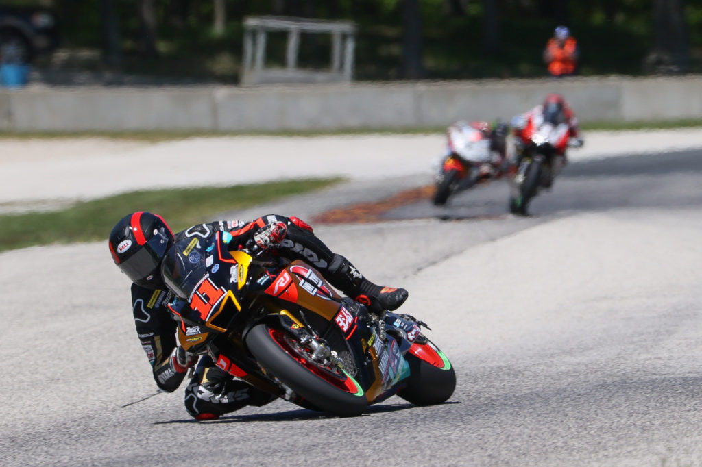 Mathew Scholtz (11) in action at Road America. Photo by Brian J. Nelson, courtesy Westby Racing.