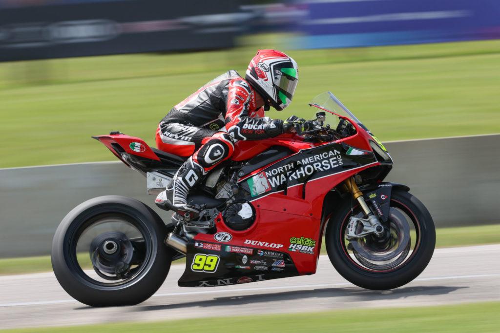 PJ Jacobsen (99). Photo courtesy Ducati.