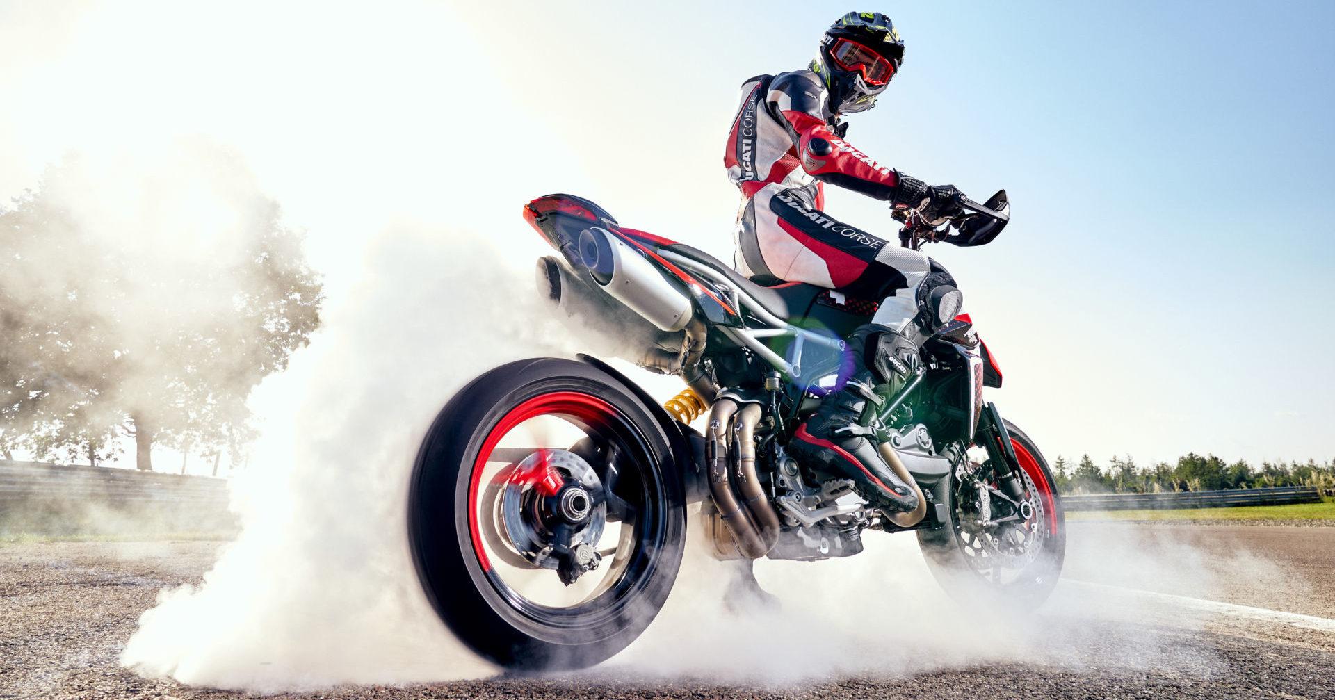 A Ducati Hypermotard 950 RVE in action. Photo courtesy Ducati.