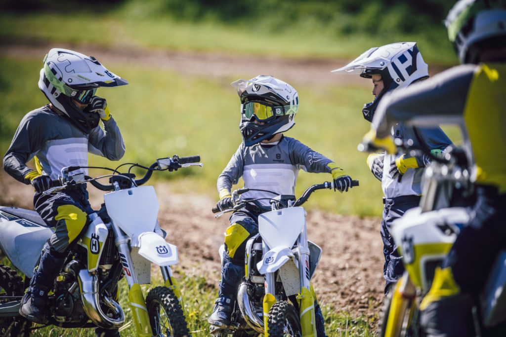 Young riders wearing Husqvarna's  new off-road apparel. Photo courtesy Husqvarna.