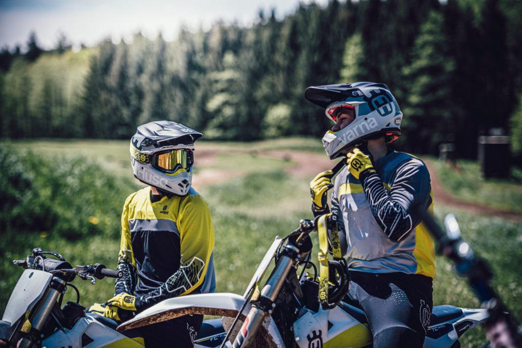 Riders wearing Husqvarna's  new off-road apparel. Photo courtesy Husqvarna.