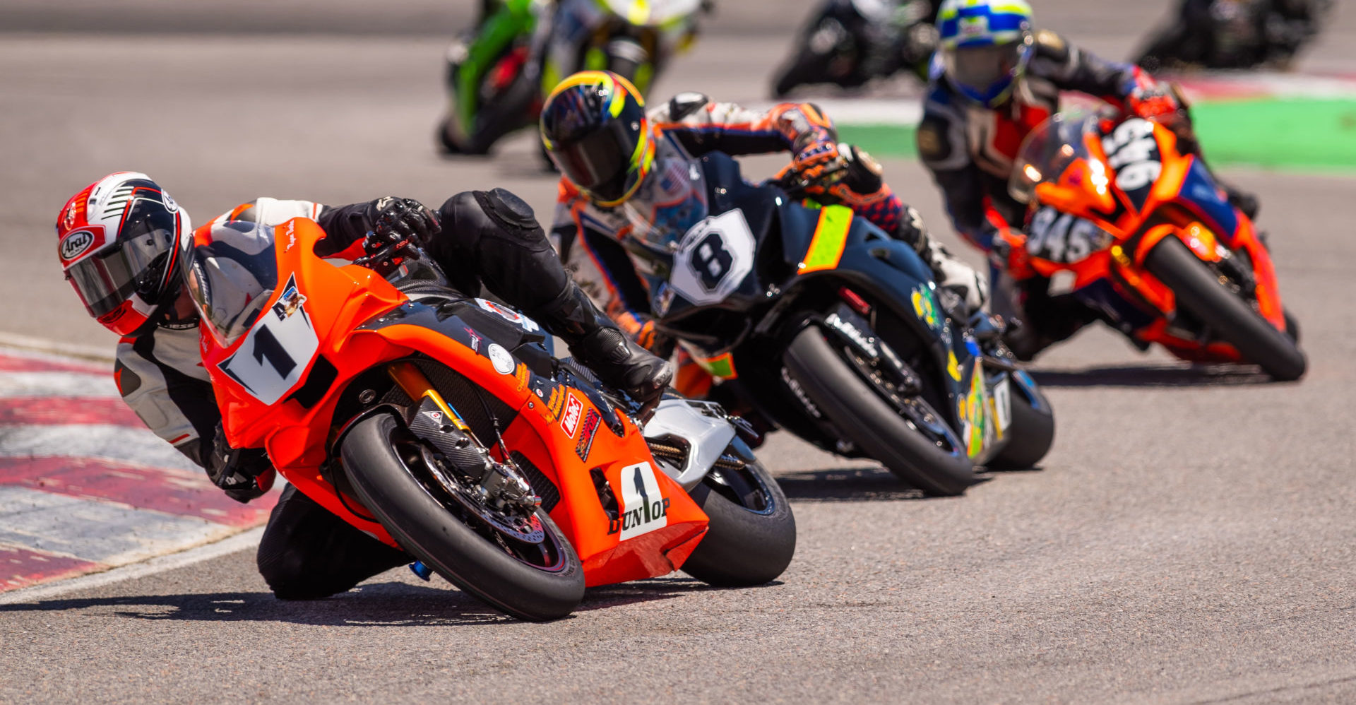 MRA #1 plate holder Ryan Burke leads a group of MRA racers. Photo by Jim Browning/Rocky Mountain Photography, courtesy MRA.