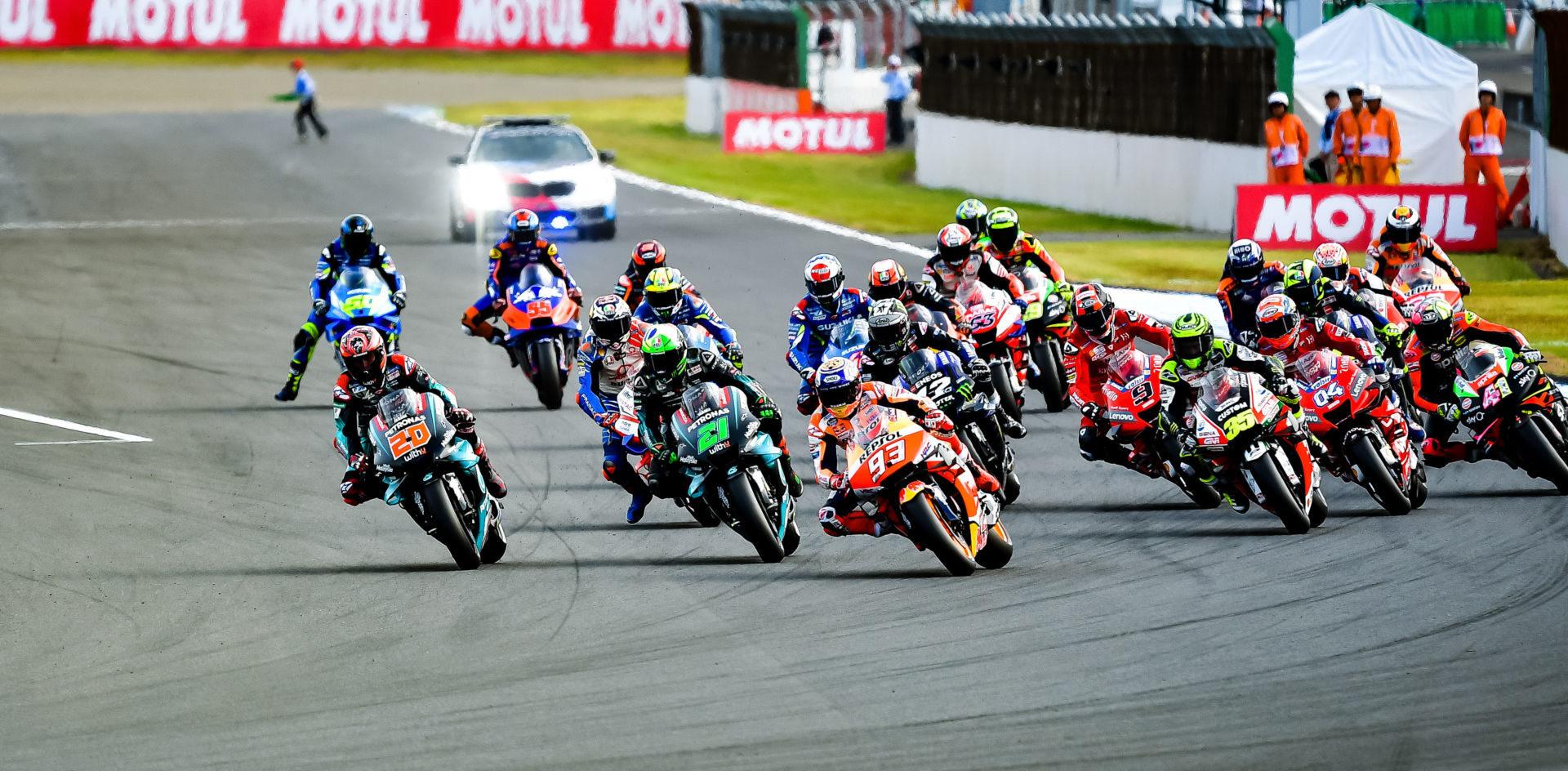 The start of the 2019 Japanese Grand Prix at Twin Ring Motegi. Photo by Kohei Hirota.