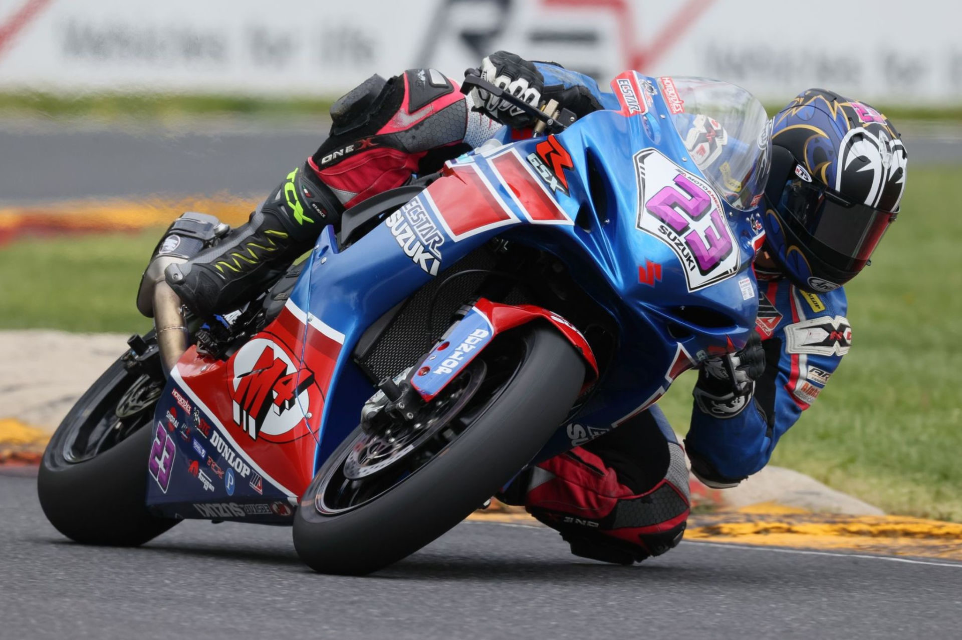 Lucas Silva (23) logged a solid sixth-place finish on his Suzuki GSX-R600 in Race 2. Photo by Brian J. Nelson, courtesy Suzuki Motor of America Inc.