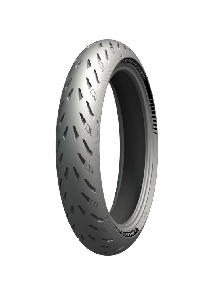 A Michelin Power 5 front tire. Photo courtesy Michelin North America.