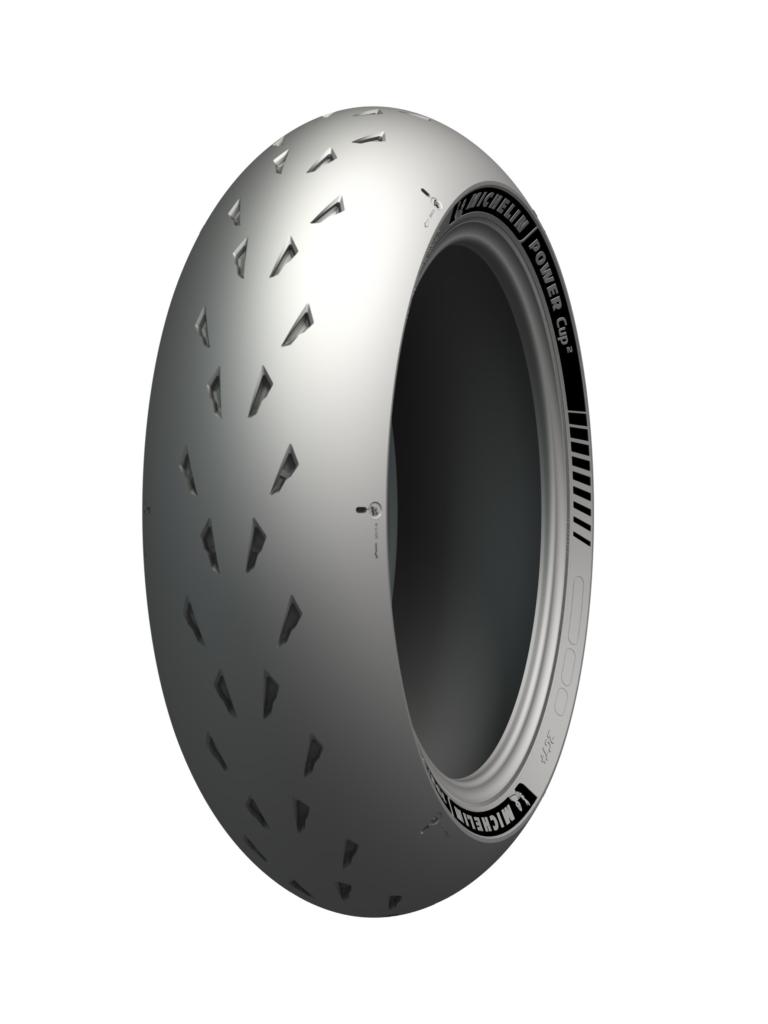 A Michelin Power Cup 2 rear tire. Photo courtesy Michelin North America.