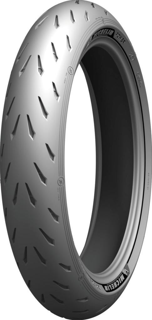 A Michelin Power GP front tire. Photo courtesy Michelin North America.