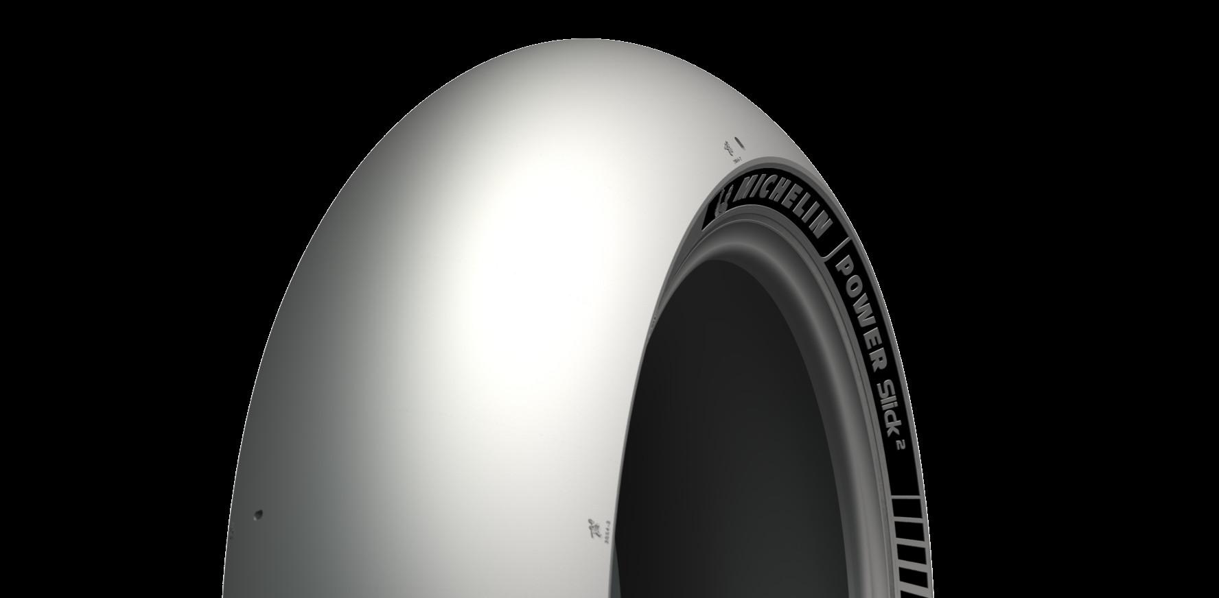 A Michelin Power Slick 2 rear tire. Photo courtesy Michelin North America.