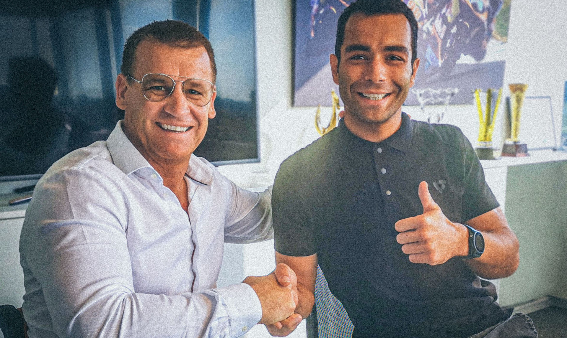 Pit Beirer, KTM Motorsport Director (left) and Danilo Petrucci (right). Photo courtesy of Red Bull KTM.