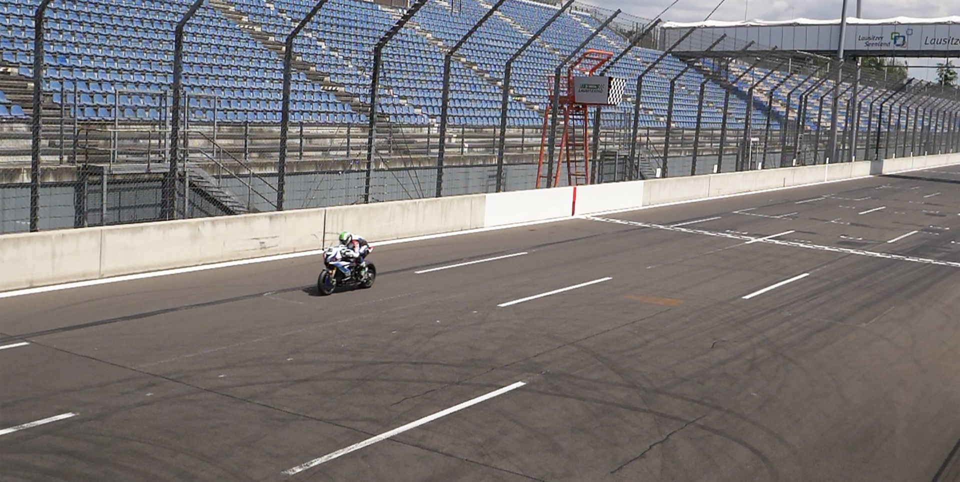Eugene Laverty (50) testing on his BMW World Superbike at Lausitzring, in Germany. Photo courtesy BMW Motorrad WorldSBK Team.