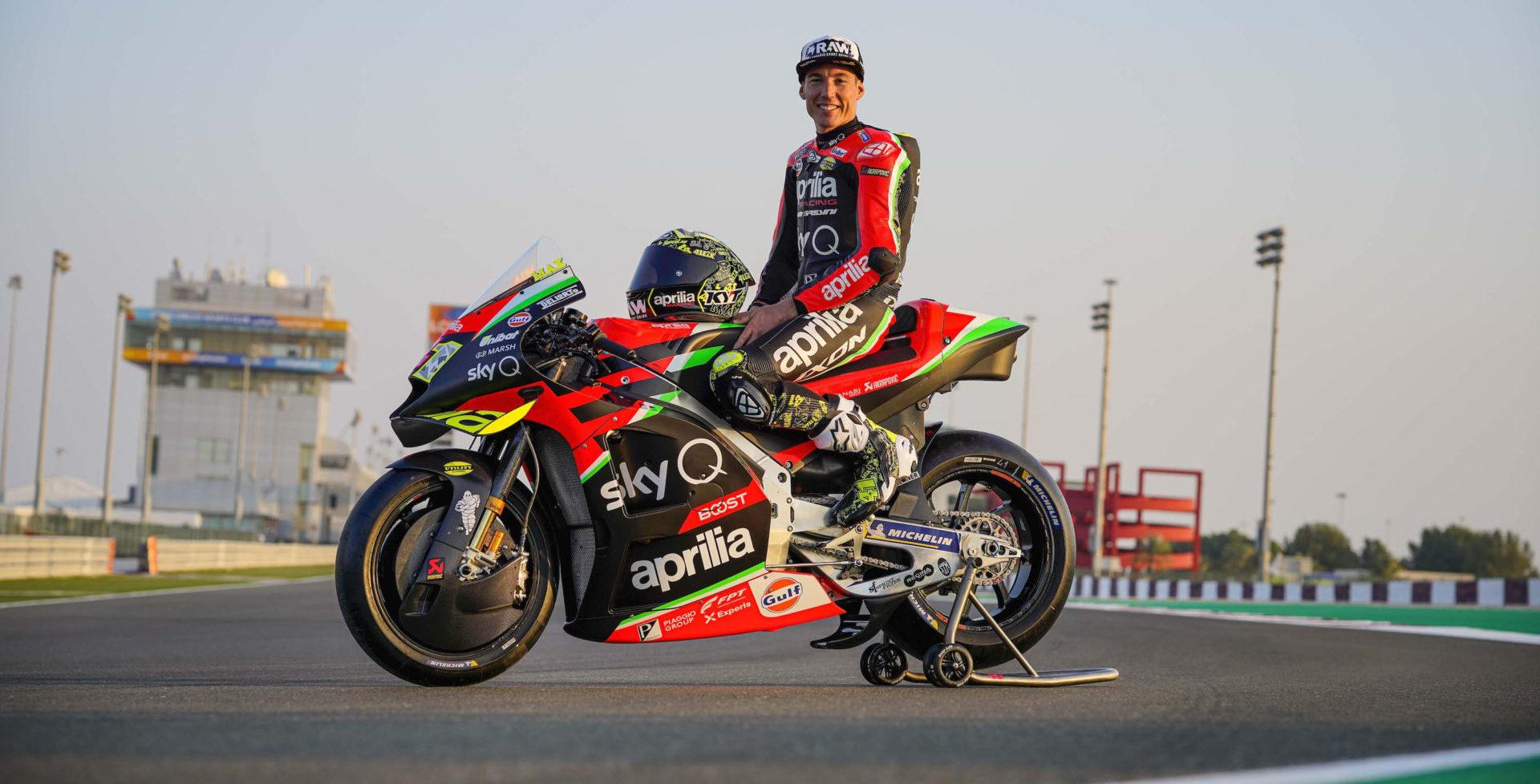 Aleix Espargaro. Photo courtesy Aprilia Gresini Racing.