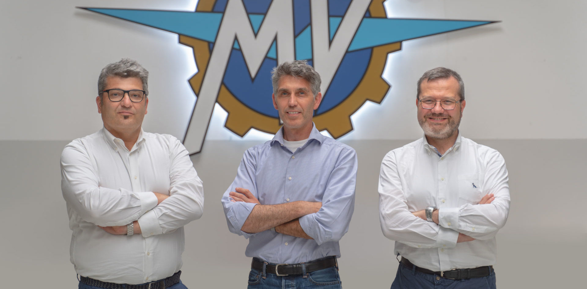 From left: Giorgio Mazzotti, Brian Gillen, and Alessandro Volpini. Photo courtesy MV Agusta.